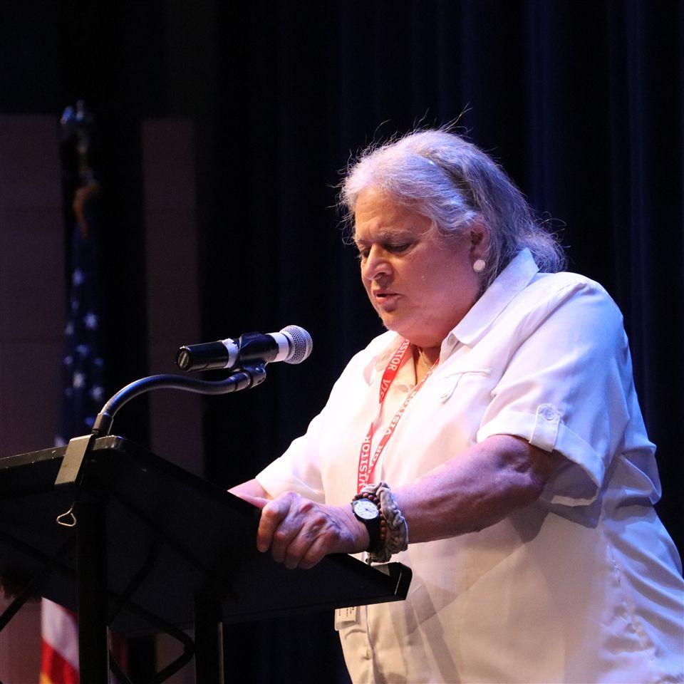 Col. Jennifer Pritzker at Parker School
